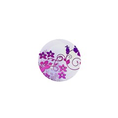 Floral Garden 1  Mini Button Magnet by Colorfulart23
