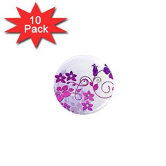 Floral Garden 1  Mini Button Magnet (10 Pack)