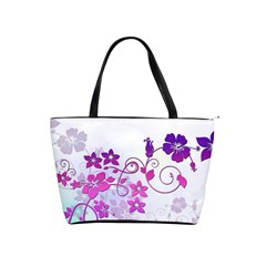 Floral Garden Large Shoulder Bag by Colorfulart23