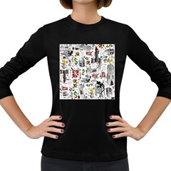 Medieval Mash Up Women s Long Sleeve T-shirt (dark Colored) by StuffOrSomething
