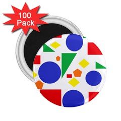 Random Geometrics 2 25  Button Magnet (100 Pack) by StuffOrSomething