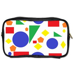 Random Geometrics Travel Toiletry Bag (two Sides) by StuffOrSomething