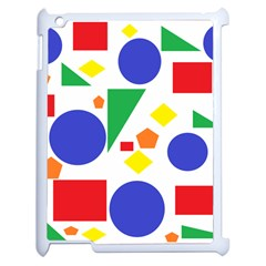 Random Geometrics Apple Ipad 2 Case (white) by StuffOrSomething