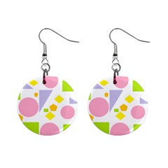 Spring Geometrics Mini Button Earrings by StuffOrSomething