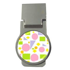 Spring Geometrics Money Clip (round) by StuffOrSomething