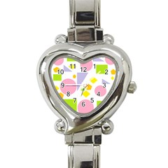 Spring Geometrics Heart Italian Charm Watch  by StuffOrSomething