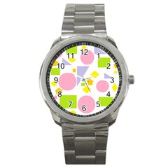 Spring Geometrics Sport Metal Watch by StuffOrSomething