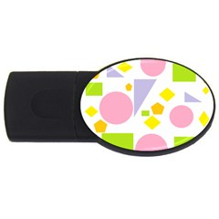 Spring Geometrics 4gb Usb Flash Drive (oval) by StuffOrSomething