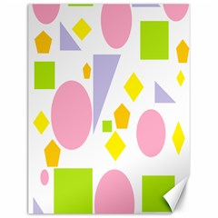 Spring Geometrics Canvas 12  X 16  (unframed) by StuffOrSomething