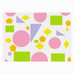 Spring Geometrics Glasses Cloth (large, Two Sided) by StuffOrSomething
