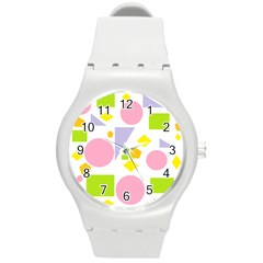 Spring Geometrics Plastic Sport Watch (medium) by StuffOrSomething