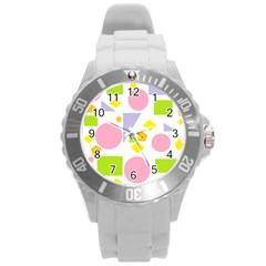 Spring Geometrics Plastic Sport Watch (large) by StuffOrSomething