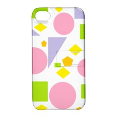Spring Geometrics Apple Iphone 4/4s Hardshell Case With Stand by StuffOrSomething