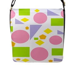 Spring Geometrics Flap Closure Messenger Bag (large) by StuffOrSomething