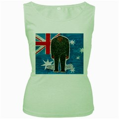 Big Foot H,australia Flag Women s Tank Top (green) by creationtruth