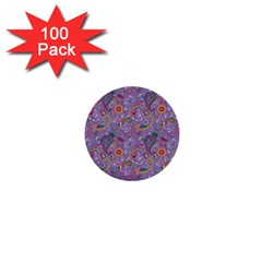 Purple Paisley 1  Mini Button (100 Pack) by StuffOrSomething