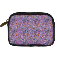 Purple Paisley Digital Camera Leather Case by StuffOrSomething