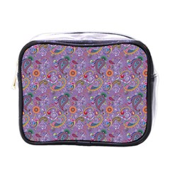 Purple Paisley Mini Travel Toiletry Bag (one Side) by StuffOrSomething
