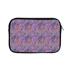 Purple Paisley Apple Ipad Mini Zippered Sleeve by StuffOrSomething