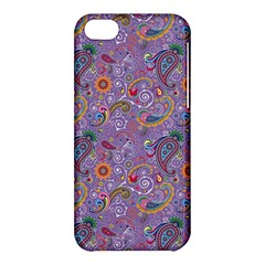 Purple Paisley Apple Iphone 5c Hardshell Case