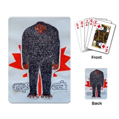 Big Foot H, Canada Flag Playing Cards Single Design by creationtruth
