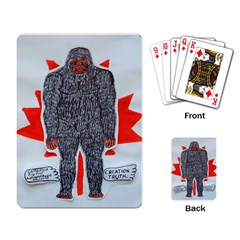 Big Foot A, Canada Flag Playing Cards Single Design by creationtruth