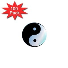 Ying Yang  1  Mini Button Magnet (100 Pack) by Siebenhuehner