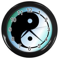 Ying Yang  Wall Clock (black) by Siebenhuehner