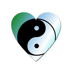 Ying Yang  Magnet (heart) by Siebenhuehner