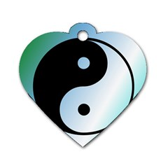 Ying Yang  Dog Tag Heart (two Sided) by Siebenhuehner