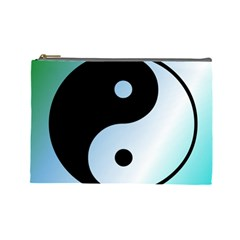 Ying Yang  Cosmetic Bag (large) by Siebenhuehner
