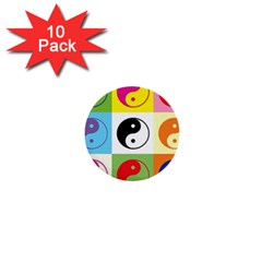 Ying Yang   1  Mini Button (10 Pack) by Siebenhuehner