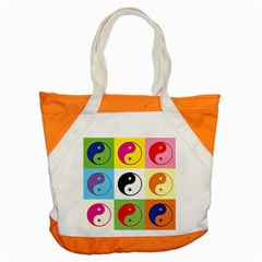 Ying Yang   Accent Tote Bag by Siebenhuehner