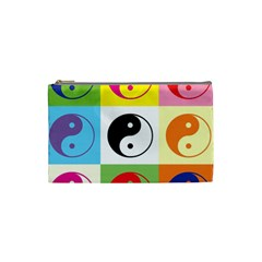 Ying Yang   Cosmetic Bag (small) by Siebenhuehner