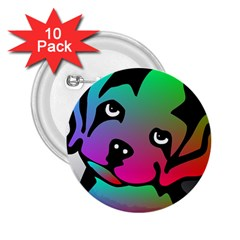 Dog 2 25  Button (10 Pack)