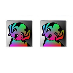 Dog Cufflinks (square) by Siebenhuehner