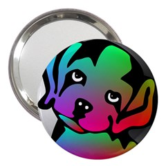 Dog 3  Handbag Mirror by Siebenhuehner