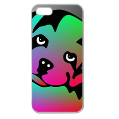 Dog Apple Seamless Iphone 5 Case (clear) by Siebenhuehner