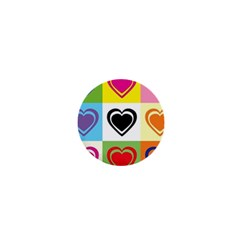 Hearts 1  Mini Button Magnet by Siebenhuehner