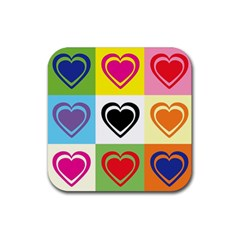 Hearts Drink Coasters 4 Pack (square) by Siebenhuehner