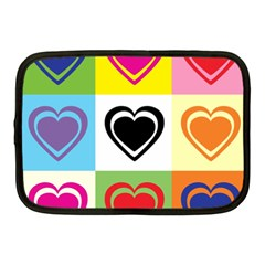 Hearts Netbook Sleeve (medium) by Siebenhuehner