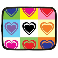 Hearts Netbook Sleeve (large) by Siebenhuehner