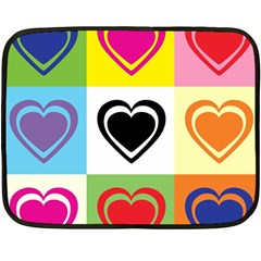 Hearts Mini Fleece Blanket (two Sided) by Siebenhuehner