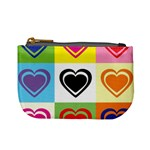 Hearts Coin Change Purse Front