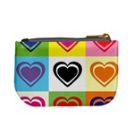 Hearts Coin Change Purse Back