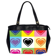 Hearts Oversize Office Handbag (two Sides) by Siebenhuehner