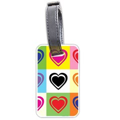 Hearts Luggage Tag (one Side) by Siebenhuehner