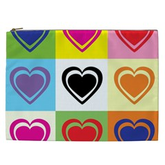 Hearts Cosmetic Bag (xxl) by Siebenhuehner
