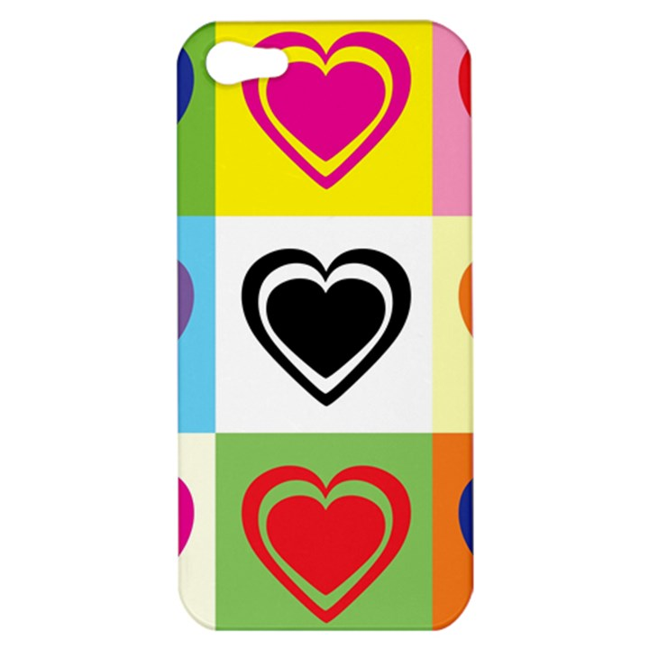 Hearts Apple iPhone 5 Hardshell Case