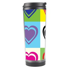 Hearts Travel Tumbler by Siebenhuehner